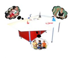 Activity table with Portable Sink : PSE – 2040I
