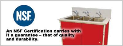 NSF Certified Portable Sinks