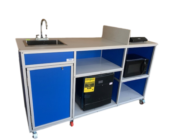 Portable Kitchen With Sink Mini, Movable Kitchen Cabinets With Sink