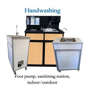 1 2 3 or 4 Basin Portable Sinks