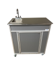 NSF Certified Single Basin Hand Washing Sink With Extended Stainless Steel Top Model  NS-009SS.. CLEARANCE