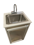 NSF Certified Stainless Steel Single Basin Portable Sink With Grey Countertop  Model: NS-009A.. CLEARANCE