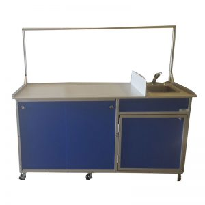 Food Service Cart with Portable Self Contained Sink : FSC-001