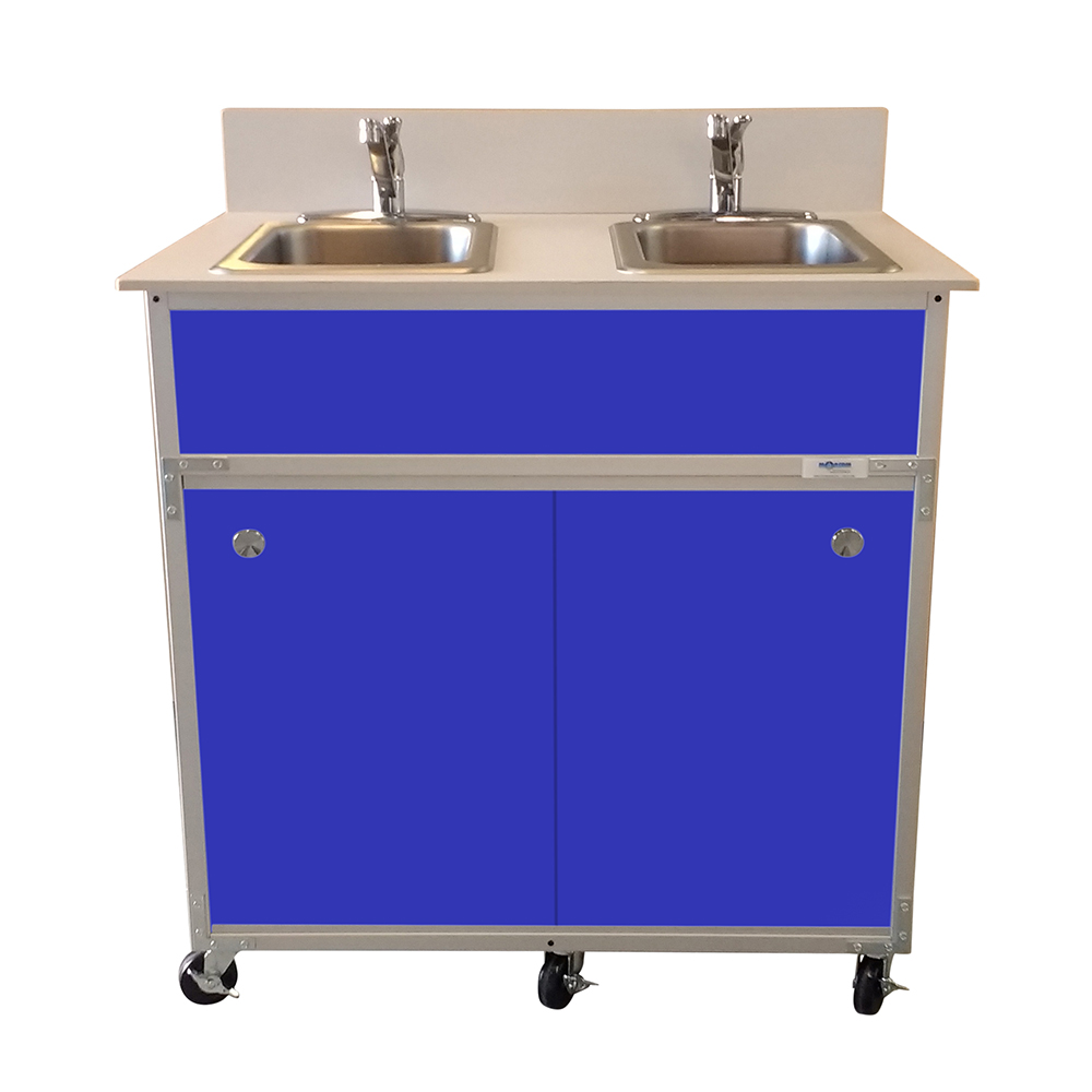 2 Bowl Hand Washing Self Contained Sink