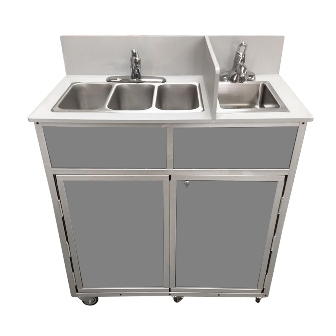 4 Compact Basin Portable Sink Coffee Cart