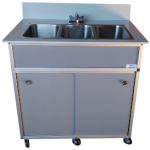 NSF Certified Three Basin Utensil Washing Self Contained Sink  Model: NS-003
