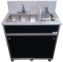 Four Compact Basins Portable Sink : NS 004S