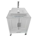 White Cabinet  Portable Sink with Ceramic Vessel Model: PSE-010WW