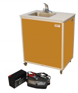 Single Basin Battery Powered Sink : PSE-2006B