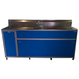 Commercial Three Deep Basin Portable Sink : PSE-2003LA