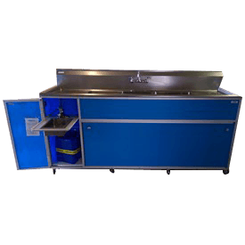 Commercial Four Deep Basin Portable Sink : PSE-2004LA