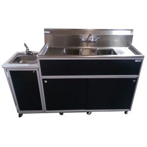 Commercial Three Bowl Sink : PSE-2004SD
