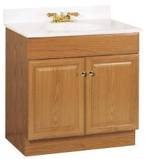 Self Contained Sink – Wood Cabinet with Marble Countertop : PSW – 007M