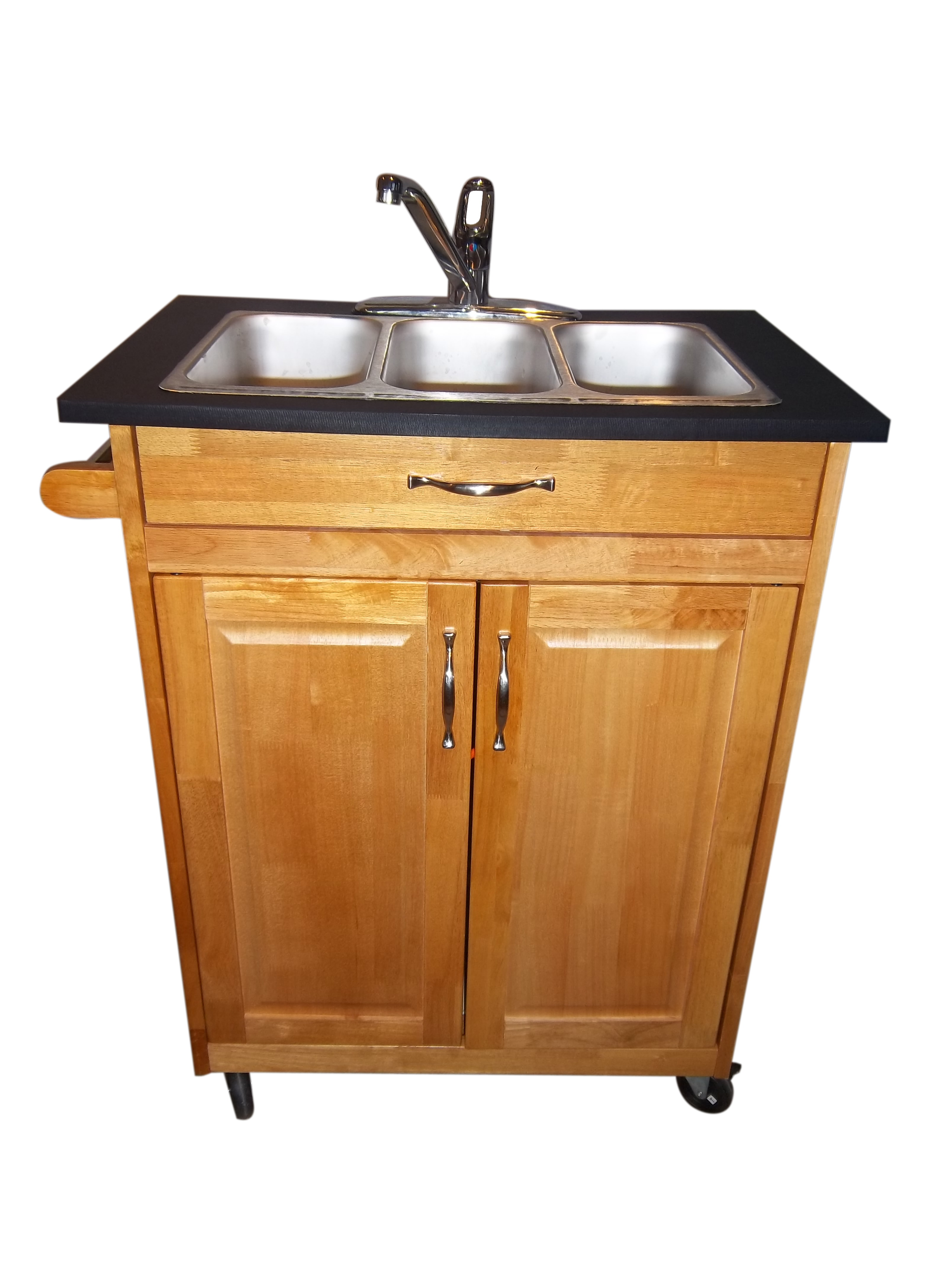 3 Compartment Self Contsined Portable Sink