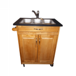 Three Compartment Self-Contained Portable Sink  Model: PSW-009T