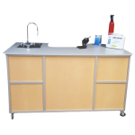 Science Workstation Instructor's Desk  with Portable Self Contained Sink Model: PSE-2049