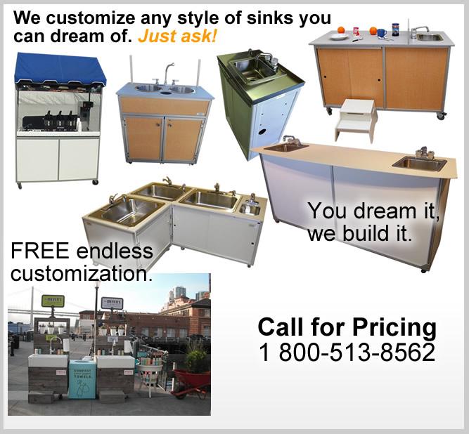 Custom Design Portable Sinks