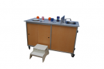 Food Preparation Cart  with Portable Self Contained Sink Model: FPC-001