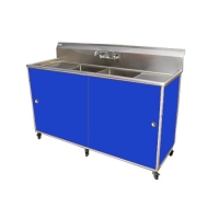Commercial Two Deep Basin Portable Sink : PSE-2002LA